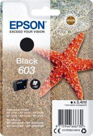 EPSON ORIGINAL - Epson 603 Noir (3,4 ml) Cartouche de marque T03U14010