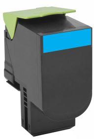 COMPATIBLE LEXMARK - 802HC Cyan (3000 pages) Toner remanufacturé grande capacité