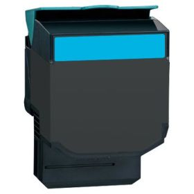 RECYCLE LEXMARK - 702HC / 70C2HC0 Cyan (3000 pages) Toner remanufacturé