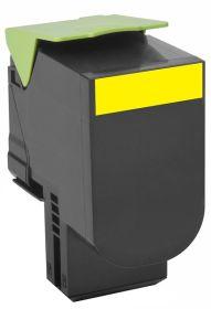 COMPATIBLE LEXMARK - 802HY Jaune (3000 pages) Toner remanufacturé grande capacité