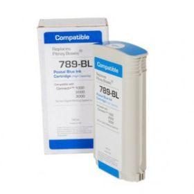 COMPATIBLE PITNEY BOWES - 789-BL Cartouche d'encre recyclée origine Pitney Bowes® pour Connect+ 1000, 2000, 3000 (puce intégrée)  Encre bleue