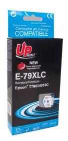 PREMIUM - UPrint 79XL Cyan (25 ml) Cartouche encre compatible Epson Qualité Premium T7902