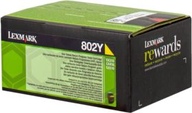 LEXMARK ORIGINAL - Lexmark 80C20Y0 Jaune (1000 pages) Toner de marque