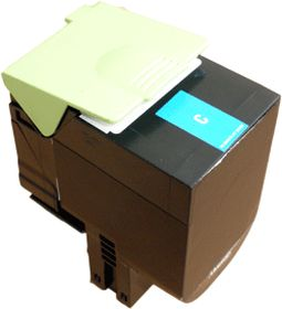 COMPATIBLE LEXMARK - 80C2SC0 cyan (2000 pages) Toner remanufacturé