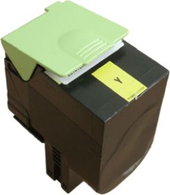 COMPATIBLE LEXMARK - 80C2SY0 Jaune (2000 pages) Toner remanufacturé