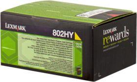 LEXMARK ORIGINAL - Lexmark 80C2HY0 Jaune (3000 pages) Toner de marque