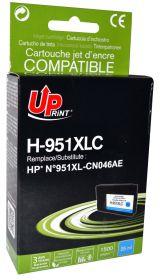 PREMIUM - UPrint 951XL Cyan (1500 pages) Cartouche remanufacturée HP Qualité Premium