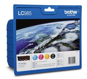 BROTHER ORIGINAL - Brother LC-985 Pack de 4 Cartouches de marque (Noir, Cyan, Magenta, Jaune)