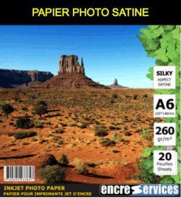 STANDARD - Papier Photo satiné A6 (10X15) 260 Gr - 20 feuilles