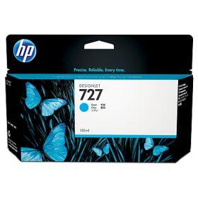 HP ORIGINAL - HP 727 / B3P19 Cyan (130 ml) Cartouche de marque