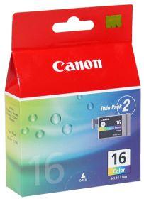 CANON ORIGINAL - Canon BCI-16 Couleurs (2 x 199 pages) Pack de 2 cartouches de marque