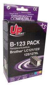UPRINT - UPrint LC-123 Pack 5 cartouches compatibles Brother Qualité Premium