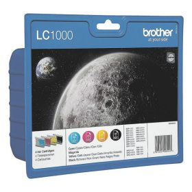BROTHER ORIGINAL - Brother LC-1000 Multipack de 4 Cartouches (Noir, Cyan, Jaune, Magenta)