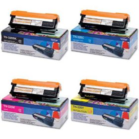 BROTHER ORIGINAL - BROTHER TN-320 Pack de 4 Toners de marque (Noir, Cyan, Magenta, Jaune)