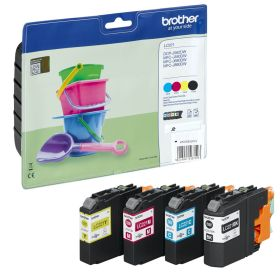 BROTHER ORIGINAL - Brother LC-221 Pack de 4 cartouches (noir/ cyan/ magenta/ jaune) de marque