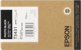 EPSON ORIGINAL - Epson T5431 Noir Photo (110 ml) Cartouche de marque