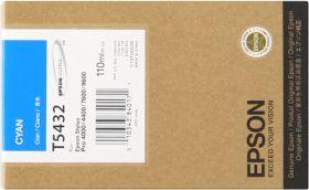 EPSON ORIGINAL - Epson T5432 Cyan (110 ml) Cartouche de marque