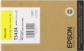 EPSON ORIGINAL - Epson T5434 Jaune (110 ml) Cartouche de marque