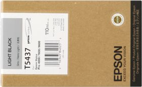 EPSON ORIGINAL - Epson T5437 Gris (110 ml) Cartouche de marque