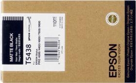 EPSON ORIGINAL - Epson T5438 Noir mat (110 ml) Cartouche de marque