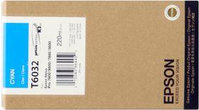EPSON ORIGINAL - Epson T6032 Cyan (220 ml) Cartouche de marque