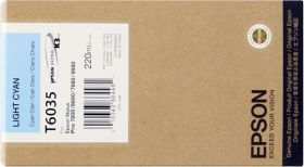 EPSON ORIGINAL - Epson T6035 Cyan clair (220 ml) Cartouche de marque