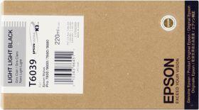 EPSON ORIGINAL - Epson T6039 Gris clair (220 ml) Cartouche de marque