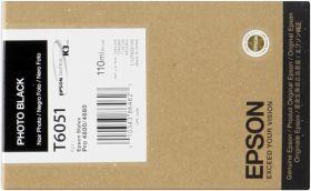 EPSON ORIGINAL - Epson T6051 Noir Photo (110ml) Cartouche de marque