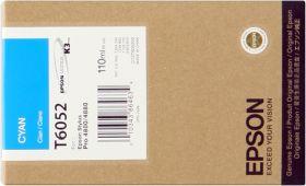 EPSON ORIGINAL - Epson T6052 Cyan (110ml) Cartouche de marque