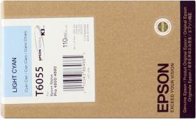EPSON ORIGINAL - Epson T6055 Cyan Clair (110ml) Cartouche de marque