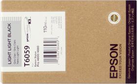 EPSON ORIGINAL - Epson T6059 Gris clair (110ml) Cartouche de marque