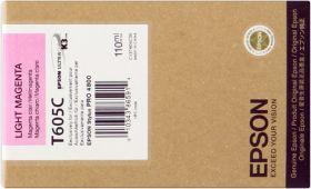 EPSON ORIGINAL - Epson T605C Magenta clair (110ml) Cartouche de marque