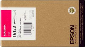 EPSON ORIGINAL - Epson T6123 Magenta (220 ml) Cartouche de marque