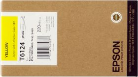 EPSON ORIGINAL - Epson T6124 Jaune (220 ml) Cartouche de marque