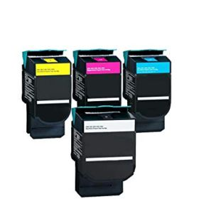RECYCLE LEXMARK - C540N Pack de 4 Toners remanufacturés Haute Qualité