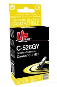 UPRINT - UPrint CLI-526 Grise Cartouche remanufacturée Canon Qualité Premium (puce intégrée)