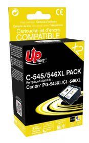 UPRINT - UPrint PG-545XL Noir et CL-546XL couleurs Pack 2 cartouches remanufacturées Canon Qualité Premium (18 ml + 15 ml)