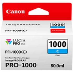 CANON ORIGINAL - Canon PFI-1000 Cyan (80 ml) Cartouche de marque