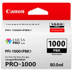 CANON ORIGINAL - Canon PFI-1000 Photo Noir (80 ml) Cartouche de marque