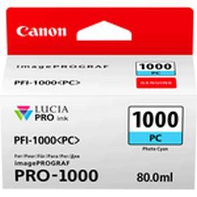 CANON ORIGINAL - Canon PFI-1000 Photo Cyan (80 ml) Cartouche de marque