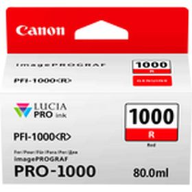 CANON ORIGINAL - Canon PFI-1000 Rouge (80 ml) Cartouche de marque