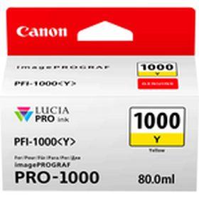 CANON ORIGINAL - Canon PFI-1000 Jaune (80 ml) Cartouche de marque