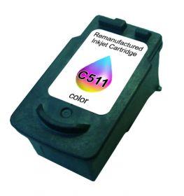 COMPATIBLE CANON - CL-511 Couleur (9 ml) Cartouche recyclée