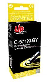 PREMIUM - UPrint CLI-571XL gris (11 ml) Cartouche remanufacturée Canon Qualité Premium  (puce intégrée)