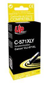 UPRINT - UPrint CLI-571XL Jaune (11 ml) Cartouche remanufacturée Canon Qualité Premium (puce intégrée)