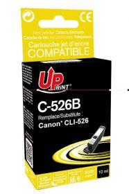 PREMIUM - UPrint CLI-526 Noir Cartouche remanufacturée Canon Qualité Premium (puce intégrée)
