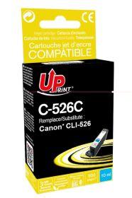PREMIUM - UPrint CLI-526 Cyan Cartouche remanufacturée Canon Qualité Premium (puce intégrée)