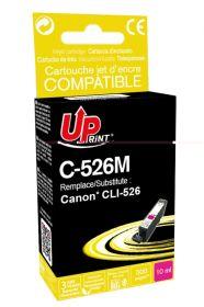PREMIUM - UPrint CLI-526 Magenta Cartouche remanufacturée Canon Qualité Premium (puce intégrée)