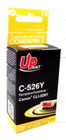 PREMIUM - UPrint CLI-526 Jaune Cartouche remanufacturée Canon Qualité Premium (puce intégrée)