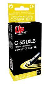 PREMIUM - UPrint CLI-551XL Noir (11 ml) Cartouche remanufacturée Canon Qualité Premium (puce intégrée)